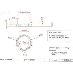 Pilaster Mounted Indicator Bolt